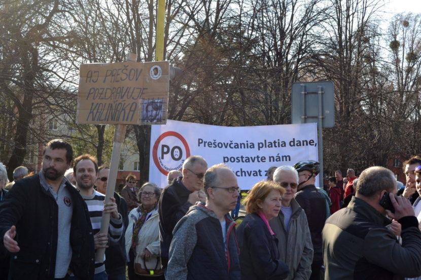 Prešovčania v proteste pritvrdili: Zablokovali tri vjazdy do mesta