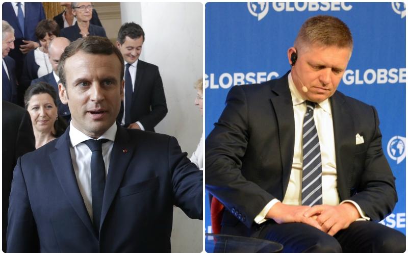 Macron sa rozprával s Ficom, témou telefonátu aj názor na Rusko