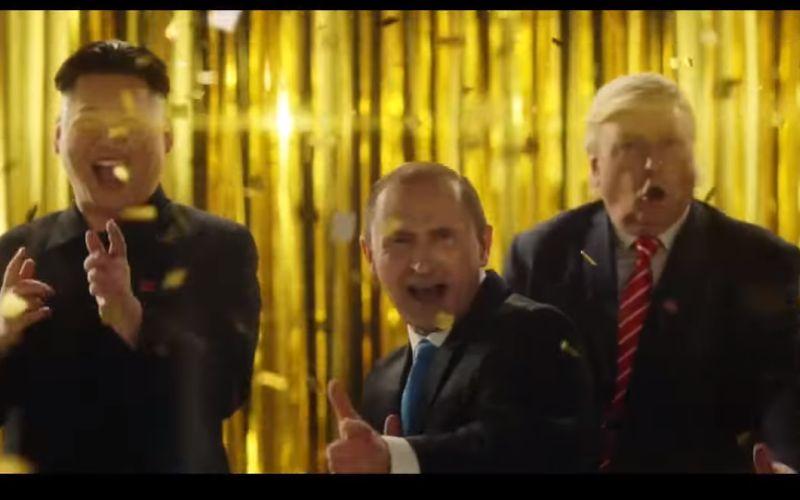 Svetoví lídri pokope: Trump, Putin a Kim Čong-un v bláznivej reklame