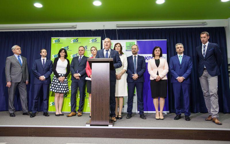 SaS, OĽaNO a KDH predstavili spoločných kandidátov na županov