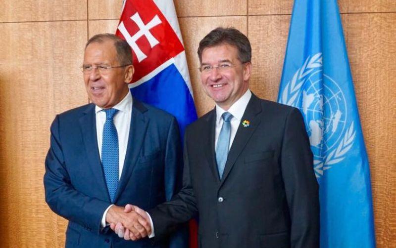 Šéf diplomacie Lajčák hovoril s ruským ministrom zahraničia Lavrovom