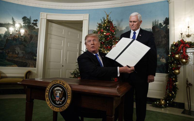 Donald Trump oficiálne uznal Jeruzalem za hlavné mesto Izraela