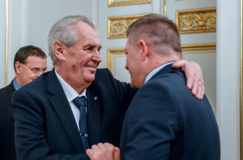 Fico sa stretol so Zemanom a Babišom na oslavách spoločných výročí
