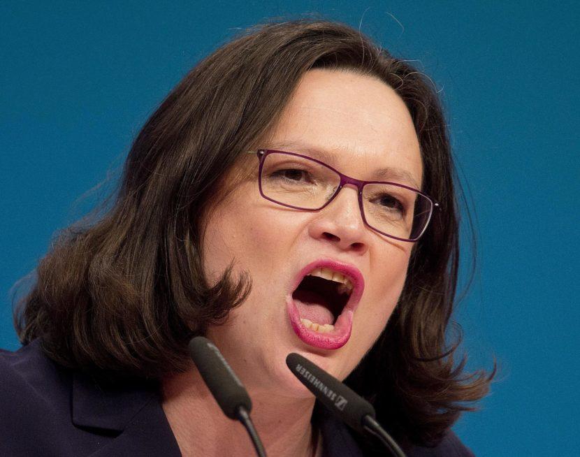Novou šéfkou sociálnych demokratov sa stala Andrea Nahlesová