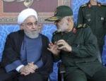 Prezident Iránu Hassan Rúhání a veliteľ revolučných gárd Hosejn Salámí. Zdroj foto: Iranian Presidency Office via AP