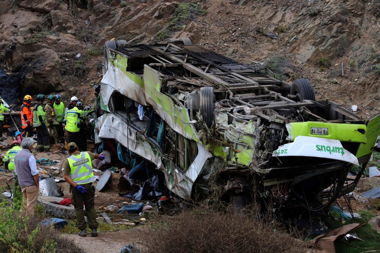 Príčina nehody zatiaľ nie je známa. SITA/Esteban Vargas/Aton Chile via AP