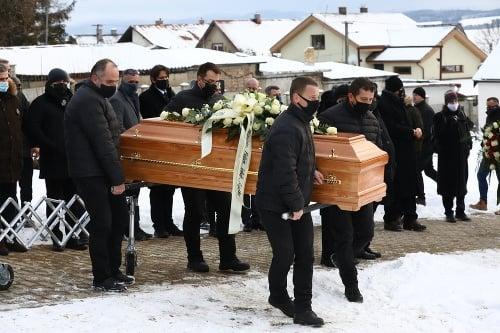Milan Lučanský pohreb