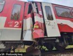 Náhradný vlak narazil do vlaku, ktorý mal pre poruchu odtiahnuť.