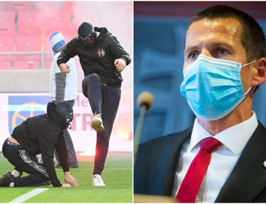 Tvrdá kritika policajného šéfa Štefana Hamrana voči organizátorom futbalového derby Slovan - Trnava.